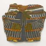 Fragment of Cartonnage from Breast of Mummy