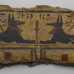 Coffin Fragment with Two Images of Anubis