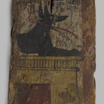 Coffin Fragment with Image of Anubis