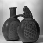 Double-chambered Whistling Jar with Human Figure