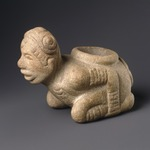 Kneeling Figure Effigy Pipe