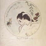 Leda (Design for a China Plate) (Leda [Projet dassiette])