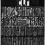 Title Page of the Erich Heckel Portfolio Published by J.B. Neumann, Berlin (Titelblatt der Erich Heckel-Mappe des Verlages J.B. Neumann, Berlin)