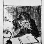 Man Reading (Self-Portrait) (Lesender Mann [Selbstbildnis])