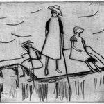 Three Girls near the Water (Drei Mädchen am Wasser)
