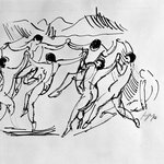 Figures Dancing in a Circle