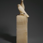 Seated Statuette of Pepy I with Horus Falcon