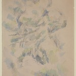 Study of Trees and Rocks; Study of Trees (verso)