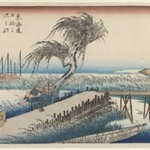 Yokkaichi: Mie River, from the series Fifty-three Stations of the Tokaido Road