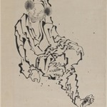 Drawing of Man Seated with Left Leg Resting over Right Knee