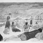 Bathers Reclining on a Beach