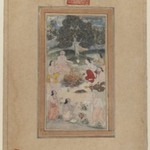Sadhus Gathered Around a Fire