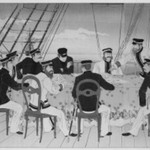 Print Showing Officers Studying Maps