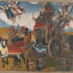 Triumph of Christ the King with the four continents