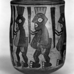 Jar with Human Figures Holding Staffs