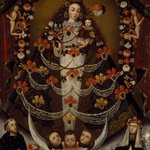 Virgin of Pomata with St. Nicholas Tolentino and St. Rose of Lima