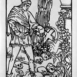 Warrior Holding a Skull