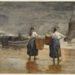 Fisher Girls on the Beach, Cullercoats