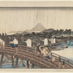Shower on Nihonbashi Bridge, from the series Famous Places in the Eastern Capital