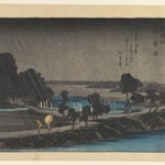 Night Rain at Azuma-no-mori, from the series Eight Views in the Environs of Edo