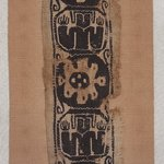 Band Fragment with Figural and Botanical Decoration