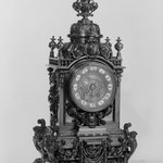 Clock, Part of a Three Piece Garniture