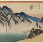 Sakanoshita: Fudesute Mountain, from the series Fifty-three Stations of the Tōkaidō Road