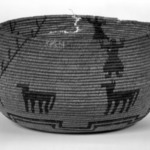 Coiled Basketry Bowl with Figures and Animal Designs