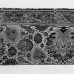 Border Fragment of a Carpet with Pattern of Scrolling Vines and Animals