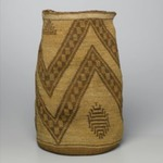 Cylindrical Basket with Bold Zigzag Patterns