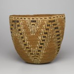 Imbricated Basket with Stepped Patterns