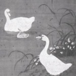 One Chinese Painting of Ducks
