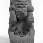 Andesite Figure of a Seated Goddess