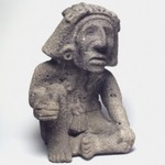 Seated Figure of the Wind God (Ehecatl)