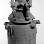 Burial Urn with Male Effigy Figure