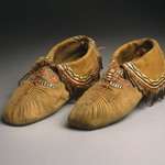 Pair of Puckered Moccasins