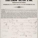 Act of Independence of the Mexican Empire (Acta de Independencia del Imperio Mexicano)