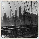 New York Harbor, View of Lower Manhattan from Brooklyn Bridge, October 1946