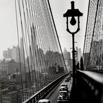 New York Harbor, Looking Toward Manhattan from the Footpath on Brooklyn Bridge, October 1946