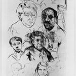Various Heads and Self-Portrait (Verschiedene Köpfe und Selbstbildnis)