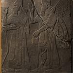 Apkallu-figure and King Ashur-nasir-pal II