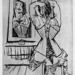 Woman Seated Before a Mirror (Frau, sitzende vor Spiegel)