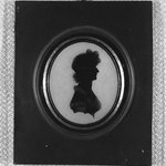 Silhouette of Bust Portrait of Girl