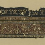 Textile Fragment with Figural and Floral Motifs and Inscriptions