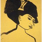 Milliner with Hat (Modistin mit Hut)