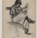 Recto: Man Reading; Verso: Young Girl