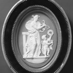 Medallion of Terpsichore with Lyre and Gupid with Wreath