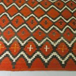 Rug with Lightening and Cross Design