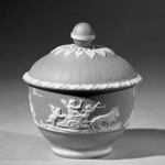 Sugar Bowl and Lid, Part of A Jasper Tea Service
