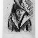 Portrait of a Woman with Hat